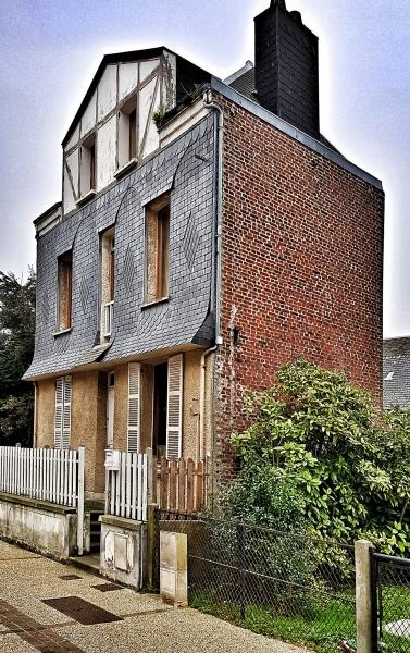 Altes Haus in Êtretat, Noramndie, Frankreich