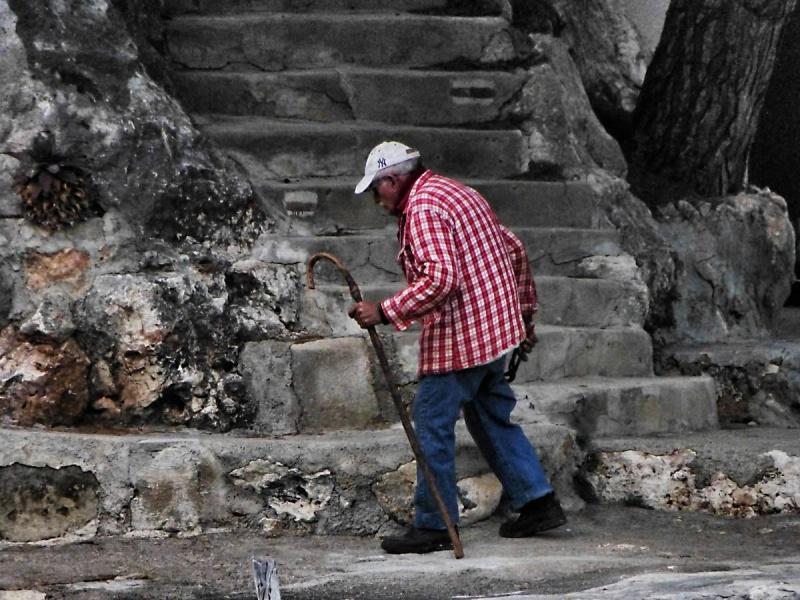 Alter Mann, auf Mallorca, Spanien