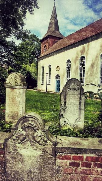 Kirche in der Nähe des Künstlerdorfes Worpswede
