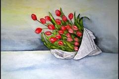 Tulpen-in-Zeitung
