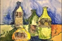 Stillleben mit Flasche