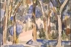 Waldstück nach Paul Cézannes