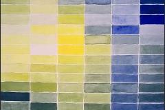 Farbstudie in Blau, Grün und Gelb