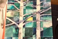 Bäume - Aquarell