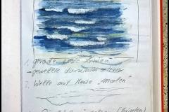 Wellenstudie - Aquarell