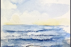 Wellen mit Felsen