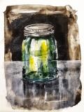Glas mit Schraubdeckel - Aquarell