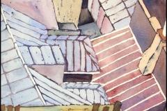 Hausdächer in Paris - Aquarell