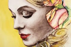 Portrait - Junge Frau - Aquarell