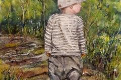 Junge mit Kappe
