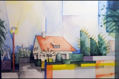 Haus - angeregt durch Aquarelle von August Macke